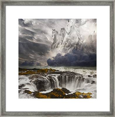 Behold A White Horse Framed Print by Keith Kapple