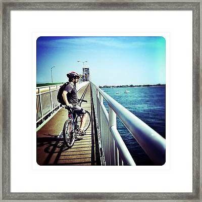 Behold Breezy Beach Framed Print