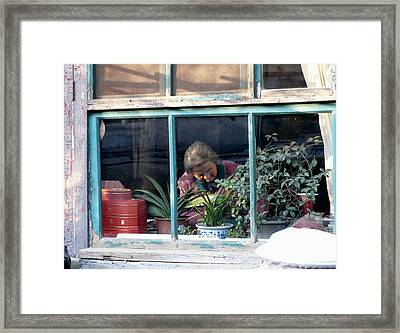 Beijing Kitchen Window Framed Print