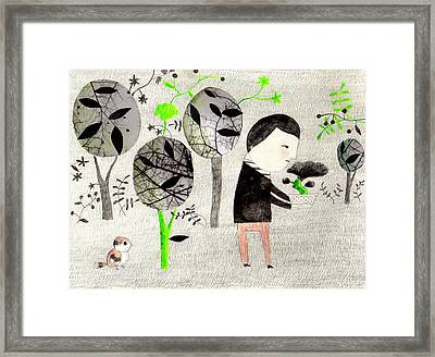 Being A Bonsai Framed Print by Luciano Lozano