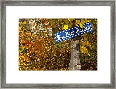 Beir Garten Framed Print by Matt Norberg