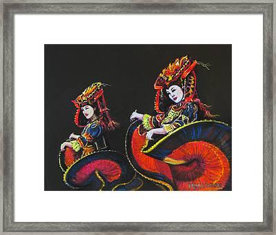 Bejing Beauties Framed Print by Tanja Ware