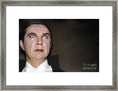 Bela Lugosi As Dracula Framed Print by Sophie Vigneault