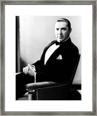Bela Lugosi, Portrait Ca. 1931 Framed Print by Everett