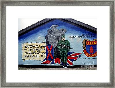 Belfast Mural Framed Print by Thomas R Fletcher