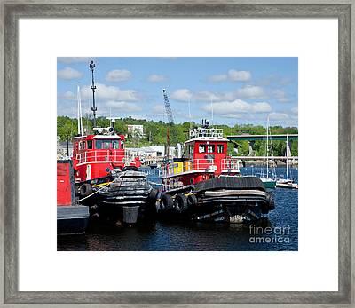 Belfast Tugboats Framed Print by Susan Cole Kelly