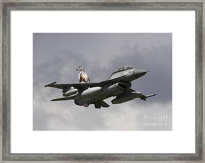 Belgian F-16b Taking Off Framed Print