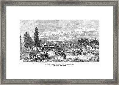 Belgrade: Market, 1876 Framed Print