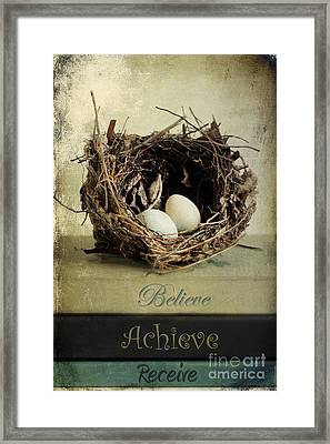 Believe Achieve Receive Framed Print
