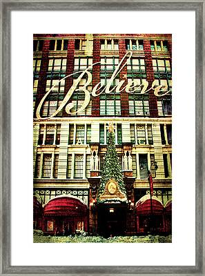 Believe Framed Print by Chris Lord