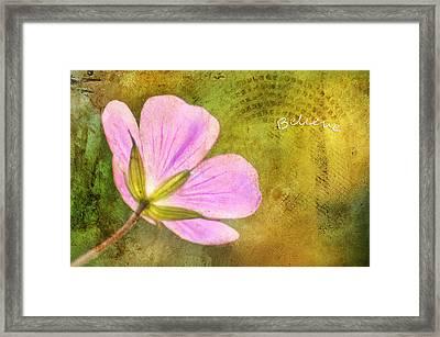 Believe Framed Print by Darren Fisher