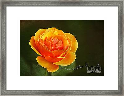 Believe The Impossible Framed Print