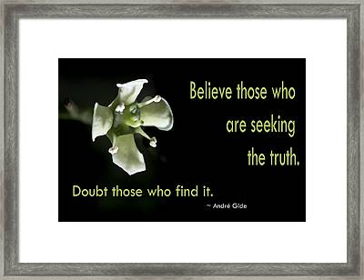 Believe Those Framed Print by Susan Shurkey-Coates