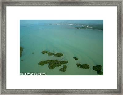 Belizean Streaks Framed Print by Heather  Boyd