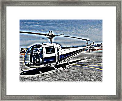 Bell 47j Ranger Helicopter  Framed Print by Samuel Sheats