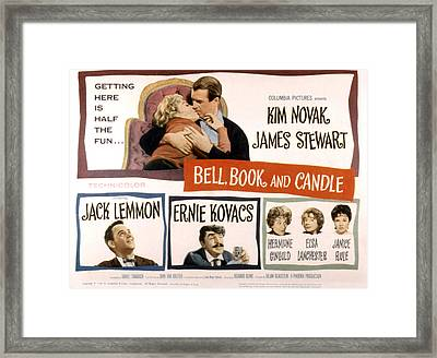 Bell Book And Candle, Top Kim Novak Framed Print
