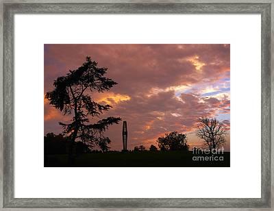 Bell Tower At Sunset Framed Print