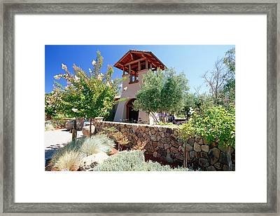 Bell Tower Of St Francis Winery Framed Print by George Oze