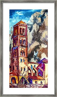 Bell Tower South Of France Framed Print by Ginette Callaway