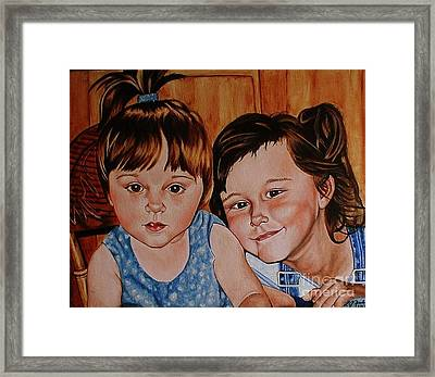 Bella And Claudia Framed Print