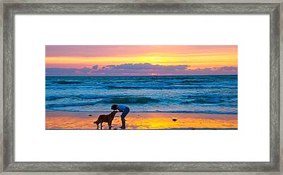 Framed Print featuring the photograph Bella At Sunrise by Alice Gipson