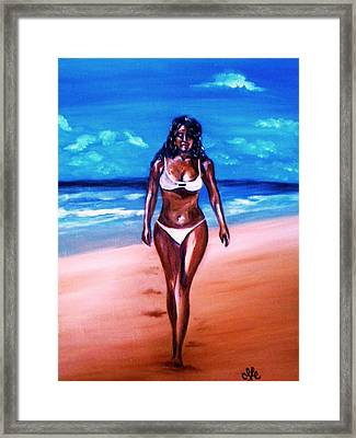 Bella Griselle In Cayo Sombrero Island Framed Print
