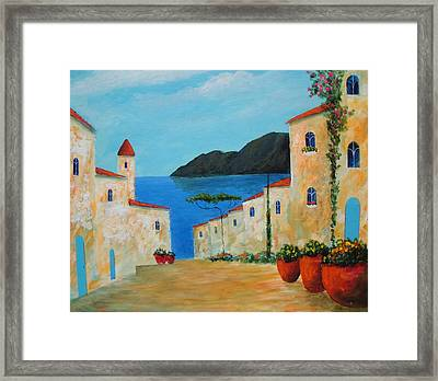 Framed Print featuring the painting Bella Italia by Larry Cirigliano