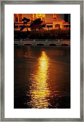 Framed Print featuring the photograph Bellagio Sunset by Joe Urbz