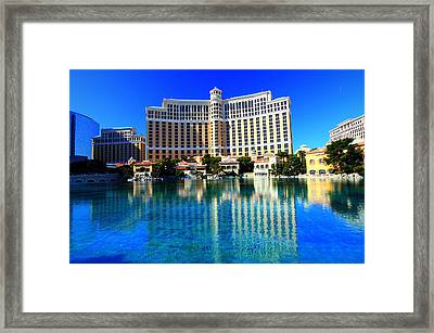 Bellagio Waters Framed Print by Linda Edgecomb