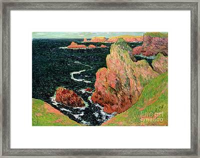 Belle Ile Framed Print by Henry Moret