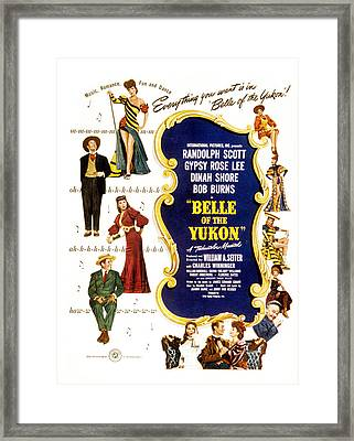Belle Of The Yukon, Left Top To Bottom Framed Print by Everett