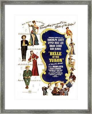 Belle Of The Yukon, Left Top To Bottom Framed Print