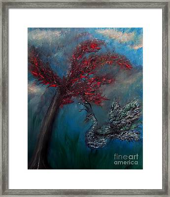 Framed Print featuring the painting Belle Paon by Ayasha Loya