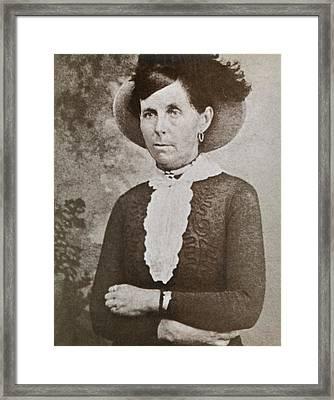 Belle Starr 1848-1889, A Western Outlaw Framed Print
