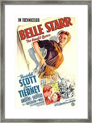 Belle Starr, Gene Tierney, Randolph Framed Print