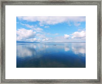 Bellingham Bay In Blue Framed Print by Karen Molenaar Terrell