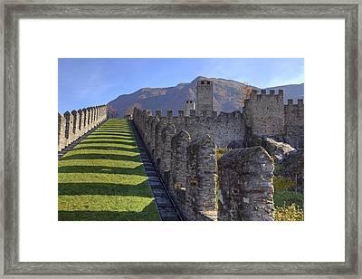 Bellinzona - Castelgrande Framed Print by Joana Kruse
