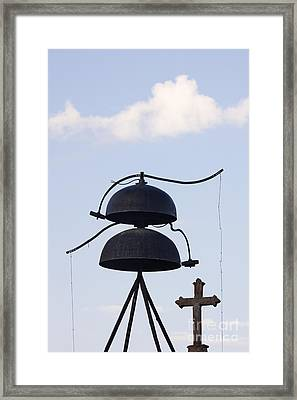 Bells And Cross Framed Print by Jeremy Woodhouse