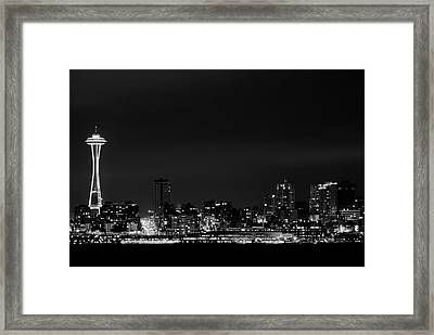 Belltown & Space Needle Framed Print by Andrew A Smith