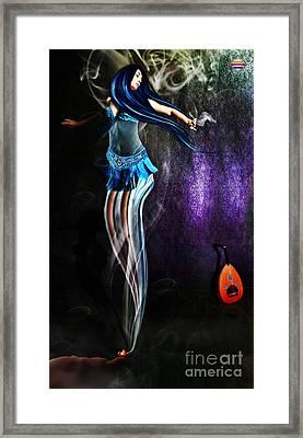 Belly Dance Genie Framed Print by Vidka Art
