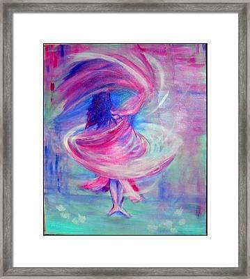 Belly Dancer Framed Print by Regina Levai