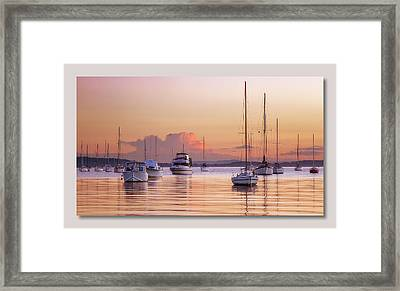 Belmont Red Framed Print