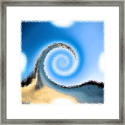 Belmont Surf Framed Print by Paula Greenlee