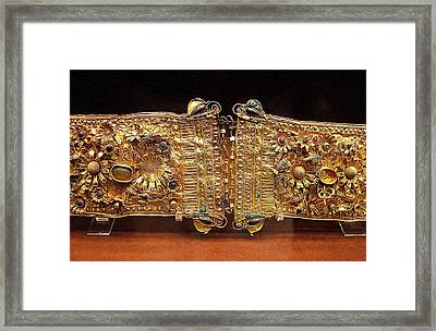 Belt With Gems Framed Print by Andonis Katanos