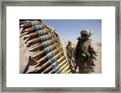 Belts Of .50-caliber Ammunition Hang Framed Print by Stocktrek Images