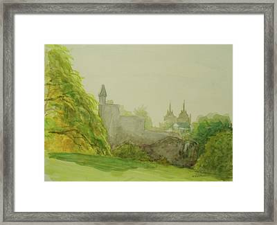 Belveder Castle Central Park Ny Framed Print