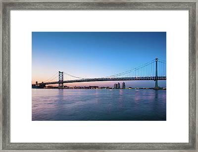 Ben Franklin Bridge Crossing The Delaware River Photograph