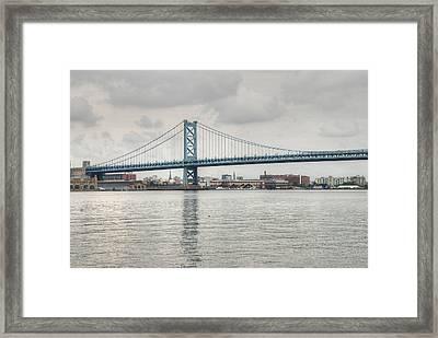 Ben Franklin Bridge Framed Print