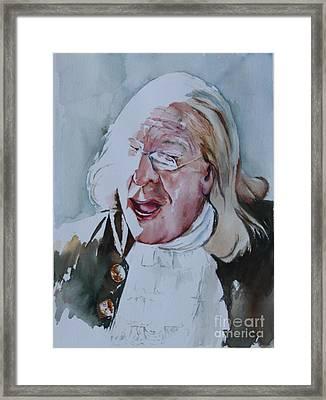 Ben Franklin Of Philadelphia Framed Print by Peg Ott Mcguckin