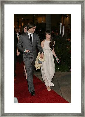 Ben Gibbard, Zooey Deschanel Framed Print by Everett